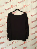 International Concepts Size 2X Black Sequined Blouse
