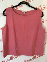 St. John Size XL Rose Blush Santana Knit Tank Top