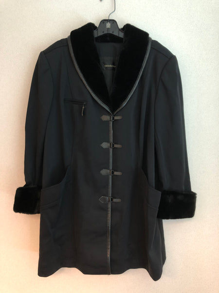 Dana Buchman Size 3X Black Nylon Blend Coat