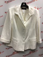 Cream Jones New York Size 16W Blazer- cotton blend