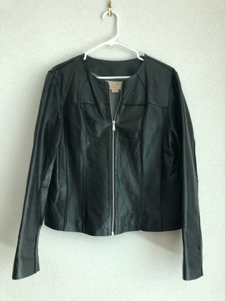 Michael Kors Size XL Black Leather Jacket