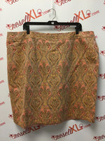 Talbots Size 22W Peach Abstract Print Pencil Skirt