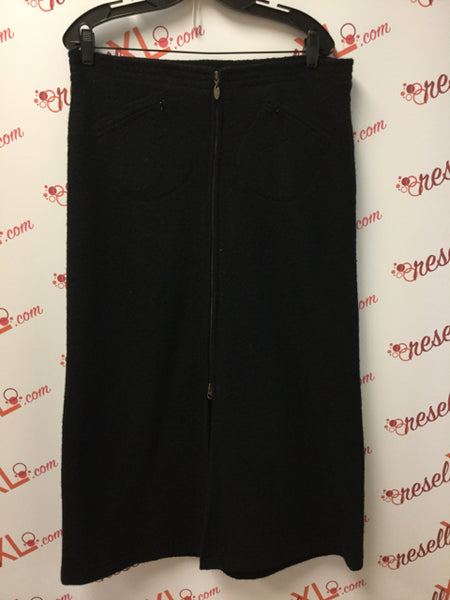 Covelo Size 10 Black Wool Skirt