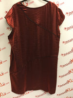 Oval Clothing Red Shimmer Size 24W Dress