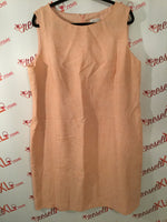 OSCAR Size 20W Peach Embroidered Shift Dress