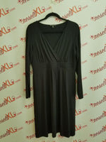 Eileen Fisher Black Long Sleeve Petite Large Dress