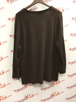 Chico's Size 2 Brown Deep-V Cardigan
