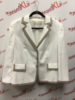 Tahari by Arthur S. Levine Cream Jacket (14W, poly)
