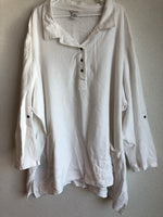 Gillian Grey  Size 6X White Linen Shirt