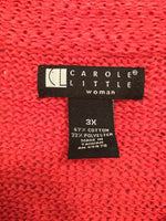 Carole Little Size 3X Pink Button Down Sweater