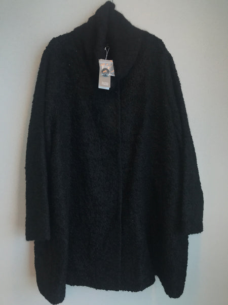 Eileen Fisher Size 3x Black Suri Alpaca Blend Coat NWT