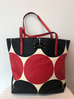 Kate Spade Large Red and Black Geometric Tote Bag