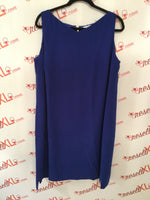 Tahari Size 18 Blue Sheath Dress with Back Zipper