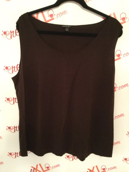 Lafayette 148 New York Size 2X Brown Tank Top