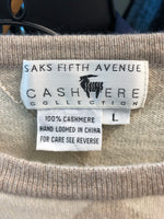 Saks Fifth Avenue L Brown Cashmere Blouse