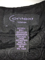 Context Woman Size 18W Black High Neck Sleeveless Dress