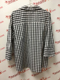 Foxcroft Size 18 Black and White Checked Blouse
