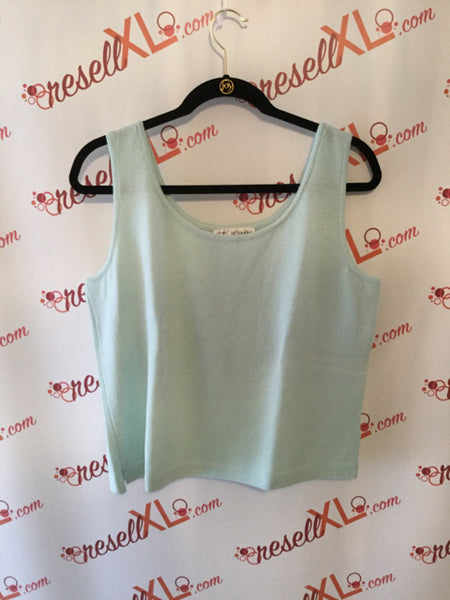 St. John Size L Light Blue Santana Knit Tank Top