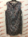 Talbots Size 22W Paisley Cotton Shift Dress