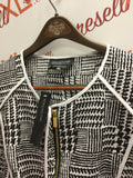 Jones New York Black & White Graphic Jacket (16W, Poly blend, NWT)