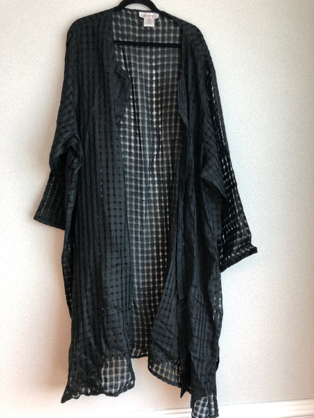 Silhouettes Size 6X Black Linen Over piece