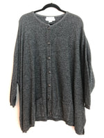 Stephanie Schuster Princess Knitwear One Size Charcoal Button Down Cardigan