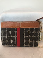 Kate Spade Small Brown/Red Cardholder
