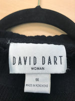 David Dart Size 1X  Black and White Pullover Sweater