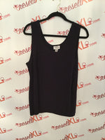 Chico's Size 3 Black Tank Top