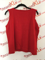 Ellen Tracy  Size 2X Red Wool Tank Top -test