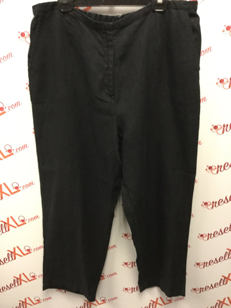 Eileen Fisher Size XL Black Blend Pants with Elastic Waist