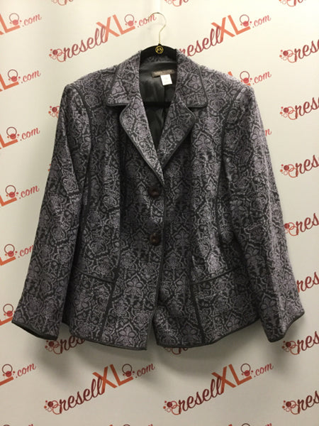 Sigrid Olsen Size 18W Dusty Purple Wool Blend Blazer