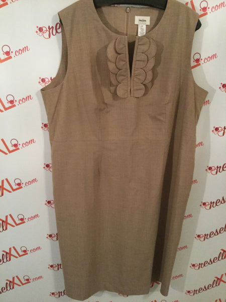 Neiman Marcus Size 18W Beige Dress