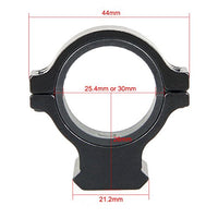 "DLP Tactical 1"" / 25mm / 30mm Scope Ring Adaptor with Picatinny Rail Mount"