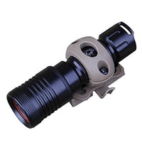 "Rotating 20mm / 0.83"" Flashlight Mount for ARC Rail equipped Helmet"