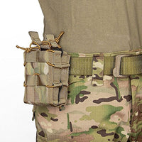 DLP Tactical Double Universal MOLLE & Belt Rifle Magazine Pouch (Multicam)