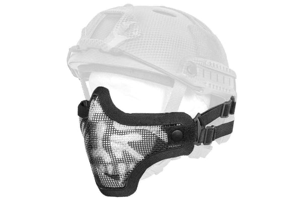 DLP Tactical Quick Release Mesh Steel Face Mask for ARC Rail Equipped FAST/ACH/MICH Combat Helmet