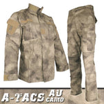 A-TACS AU BDU Combat Pants + Jacket Set 65/35 Poly/Cotton Rip Stop