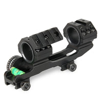 "1"" / 30mm Picatinny Scope Mount with Angle Indicator,  Bubble Level, and Secondary Dot Sight Mount"