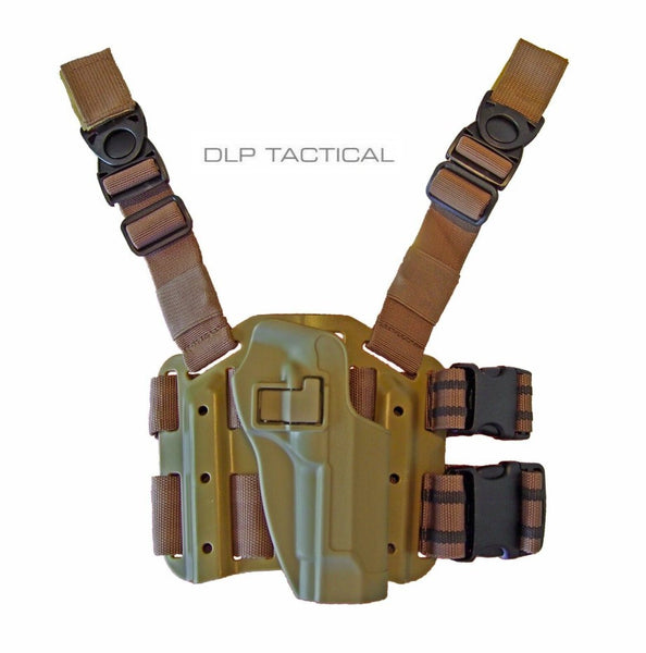 DLP Tactical Autolock SERPA style drop leg tactical holster for Beretta M9 92 96