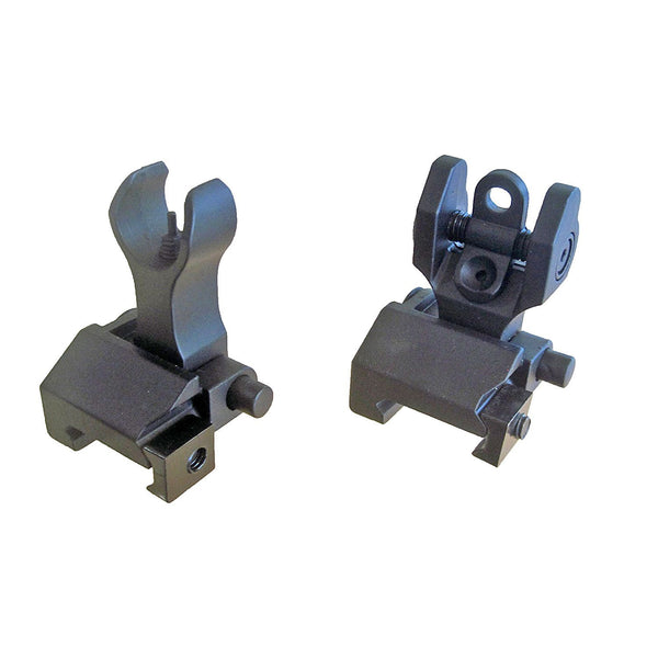 Spartan Metal Folding Front & Rear BUIS Iron Sight Set