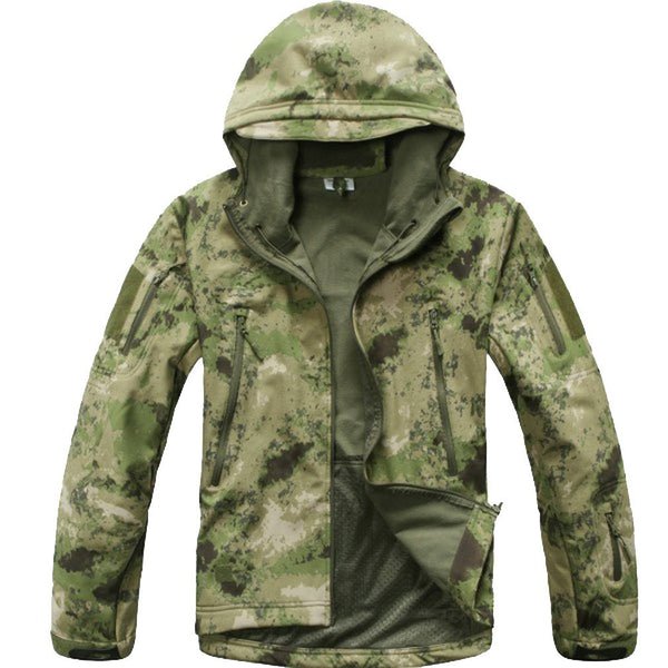 Stalker Soft Shell Waterproof & Windproof Fleece Hooded Jacket - A-TACS FG
