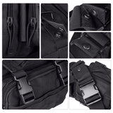 DLP Tactical Compact Range Bag / MOLLE Compatible EDC Bug Out Bag / Waist Pack