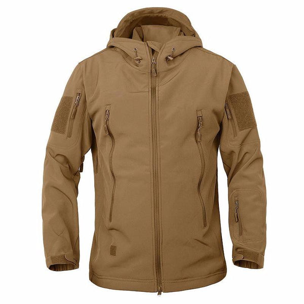 Stalker Soft Shell Waterproof & Windproof Fleece Hooded Jacket - Coyote