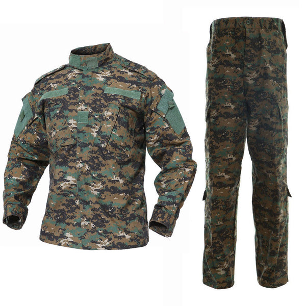 Digital Woodland BDU Combat Pants + Jacket Set 65/35 Poly/Cotton Rip Stop