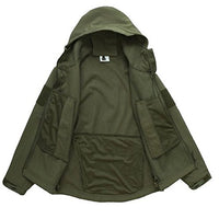 Stalker Soft Shell Waterproof & Windproof Fleece Hooded Jacket - Green