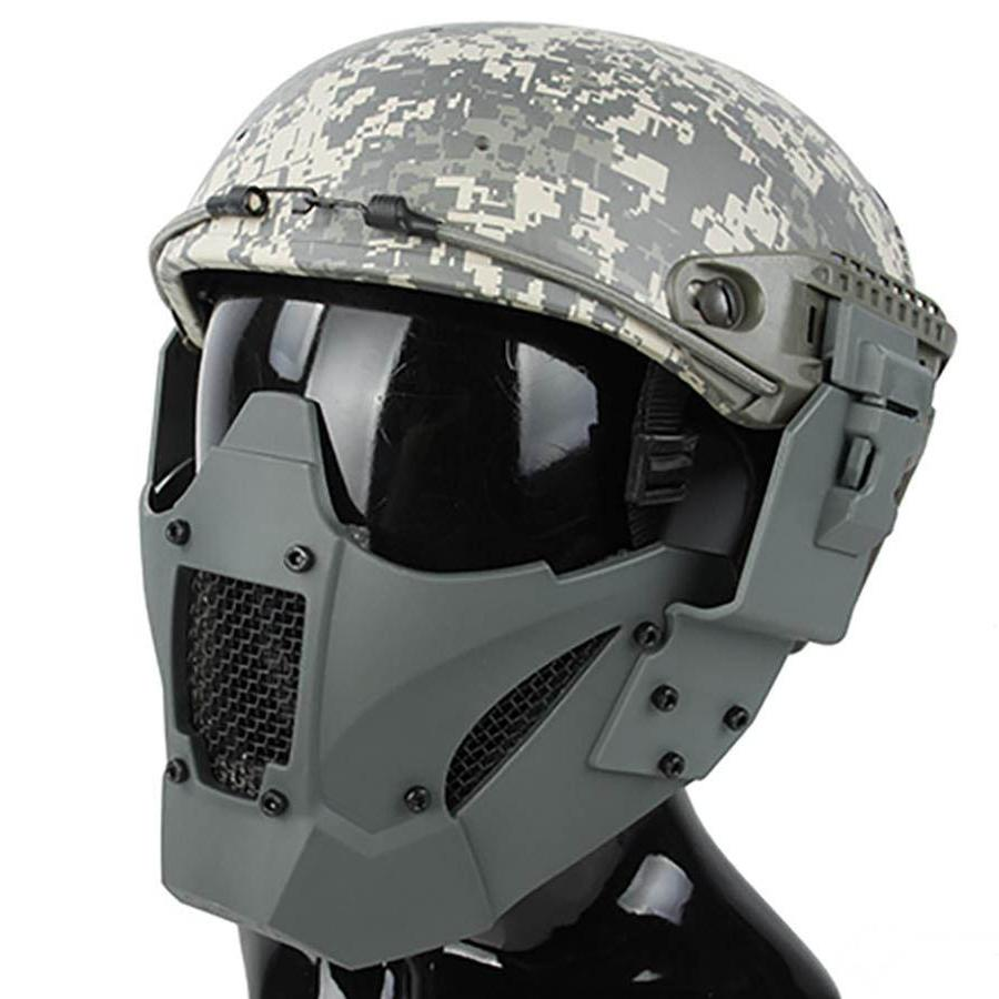 DLP Tactical Quick Release Mesh Steel Face Mask For ARC