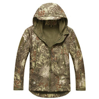 Stalker Soft Shell Waterproof & Windproof Fleece Hooded Jacket - Kryptek Mandrake