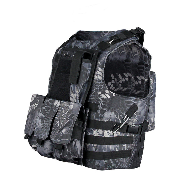Marinus Cable Releasable MOLLE Plate Carrier Vest with Three Pouches