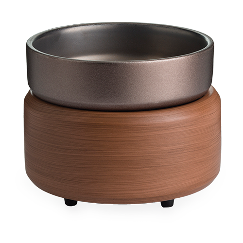 Pewter Walnut 2-in-1 Candle & Fragrance Warmer